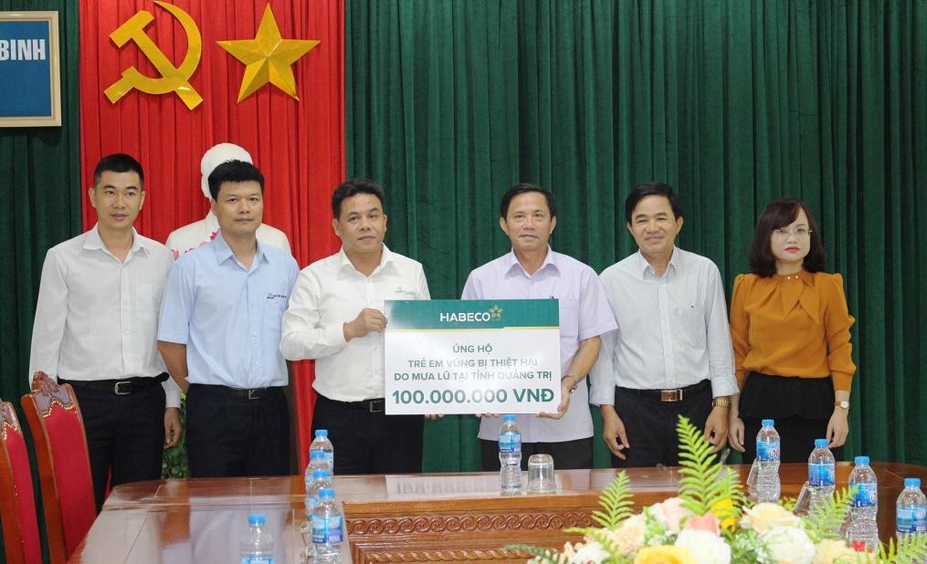 HABECO ủng hộ 200 triệu đồng hỗ trợ cho trẻ em vùng bị thiệt hại do mưa lũ tại Quảng Bình và Quảng Trị  - Ảnh 2
