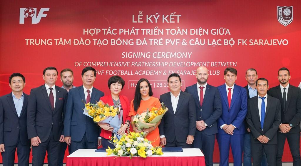 PVF và CLB FK Sarajevo ký thỏa thuận hợp tác phát triển toàn diện  - Ảnh 3