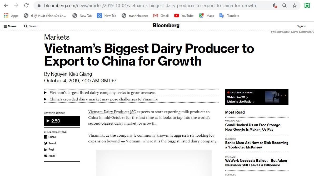 Giới truyền thông đưa ra nhận xét tích cực về Vinamilk tại Trung Quốc - Ảnh 2