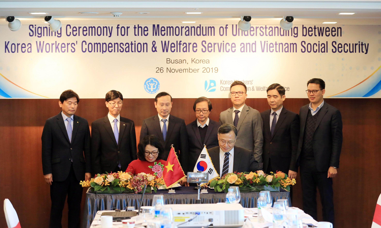 BHXH Việt Nam ký kết Bản ghi nhớ hợp tác với cơ quan Phúc lợi và đền bù cho người lao động Hàn Quốc giai đoạn 2020-2025  - Ảnh 2