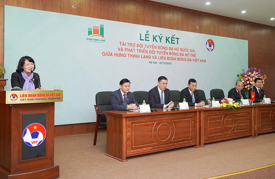 Hưng Thịnh Land tài trợ 100 tỷ đồng cho Đội tuyển bóng đá nữ Quốc gia và Phát triển Đội tuyển nữ trẻ hướng đến World Cup - Ảnh 4