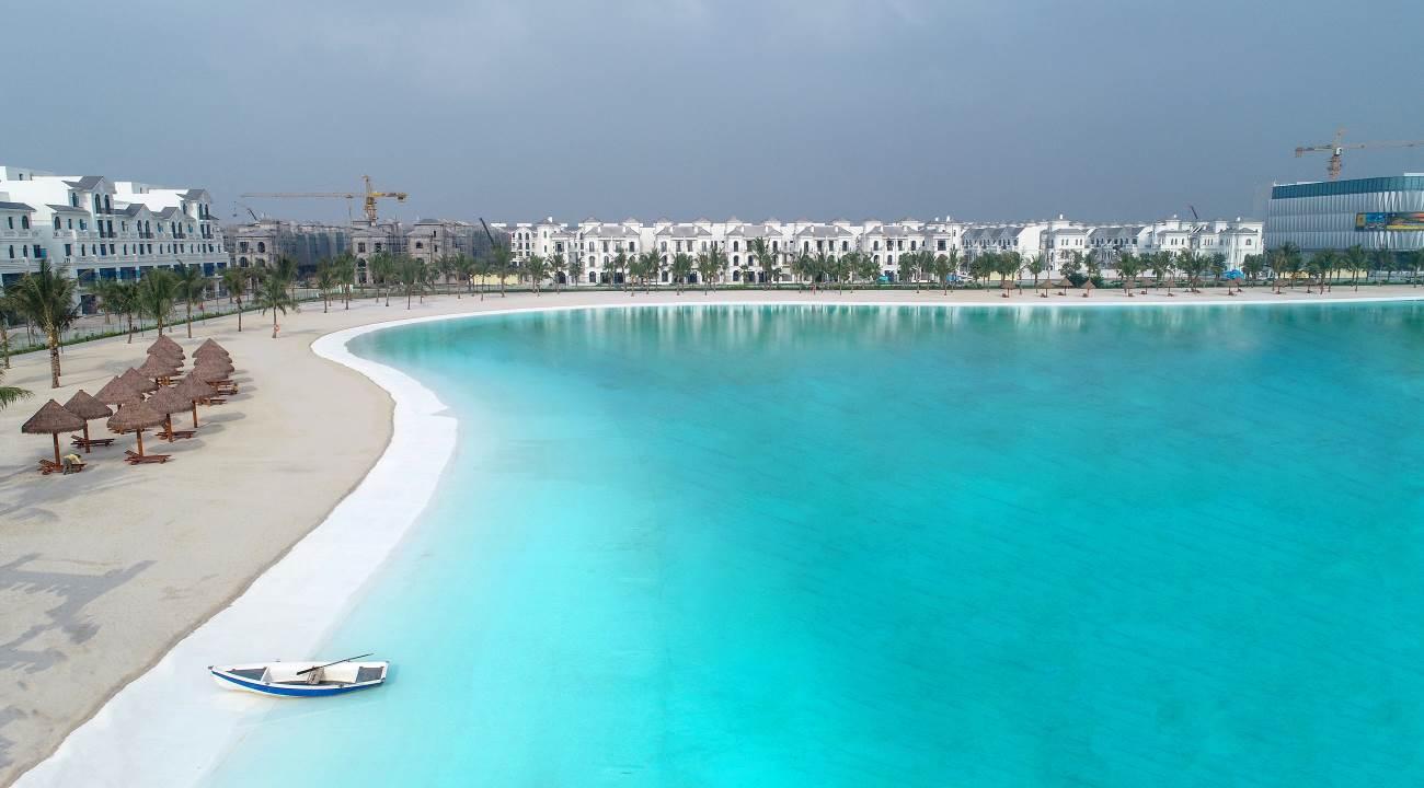 """Vinhomes Ocean Park đạt kỷ lục """"Khu đô thị có biển hồ nước mặn và hồ nước ngọt nhân tạo trải cát trắng lớn nhất thế giới""""  - Ảnh 2"""