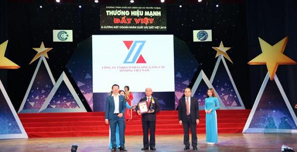Công ty TNHH Ống gang cầu XINXING nhận giải thưởng thương hiệu mạnh Đất Việt 2019 - Ảnh 1