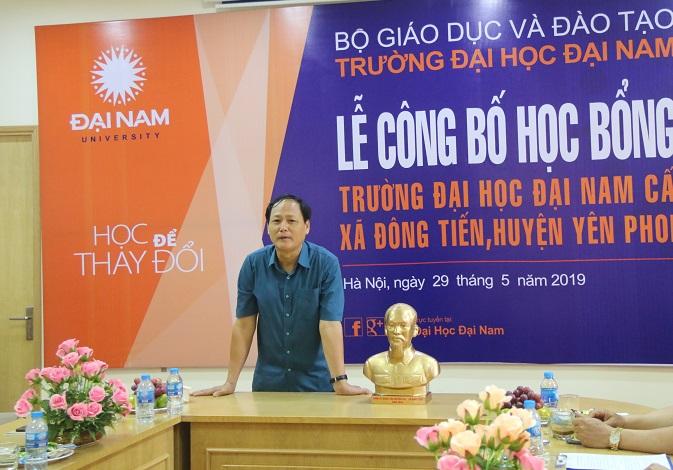 ĐH Đại Nam cấp 500 triệu đồng học bổng Khuyến tài cho SV xã Đông Tiến – Yên phong - Bắc Ninh - Ảnh 5