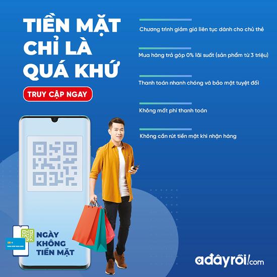 Adayroi khuyến mãi khủng, hưởng ứng ngày không dùng tiền mặt đầu tiên ở Việt Nam  - Ảnh 1