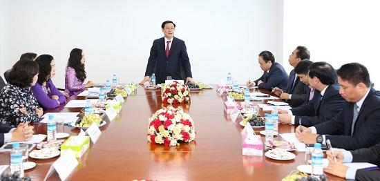Phó Thủ tướng Chính phủ Vương Đình Huệ thăm Chi nhánh BIDV Yangon  - Ảnh 1