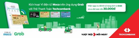 Moca trên ứng dụng Grab áp dụng chương trình khuyến mại đặc biệt dành riêng cho chủ thẻ Techcombank  - Ảnh 1