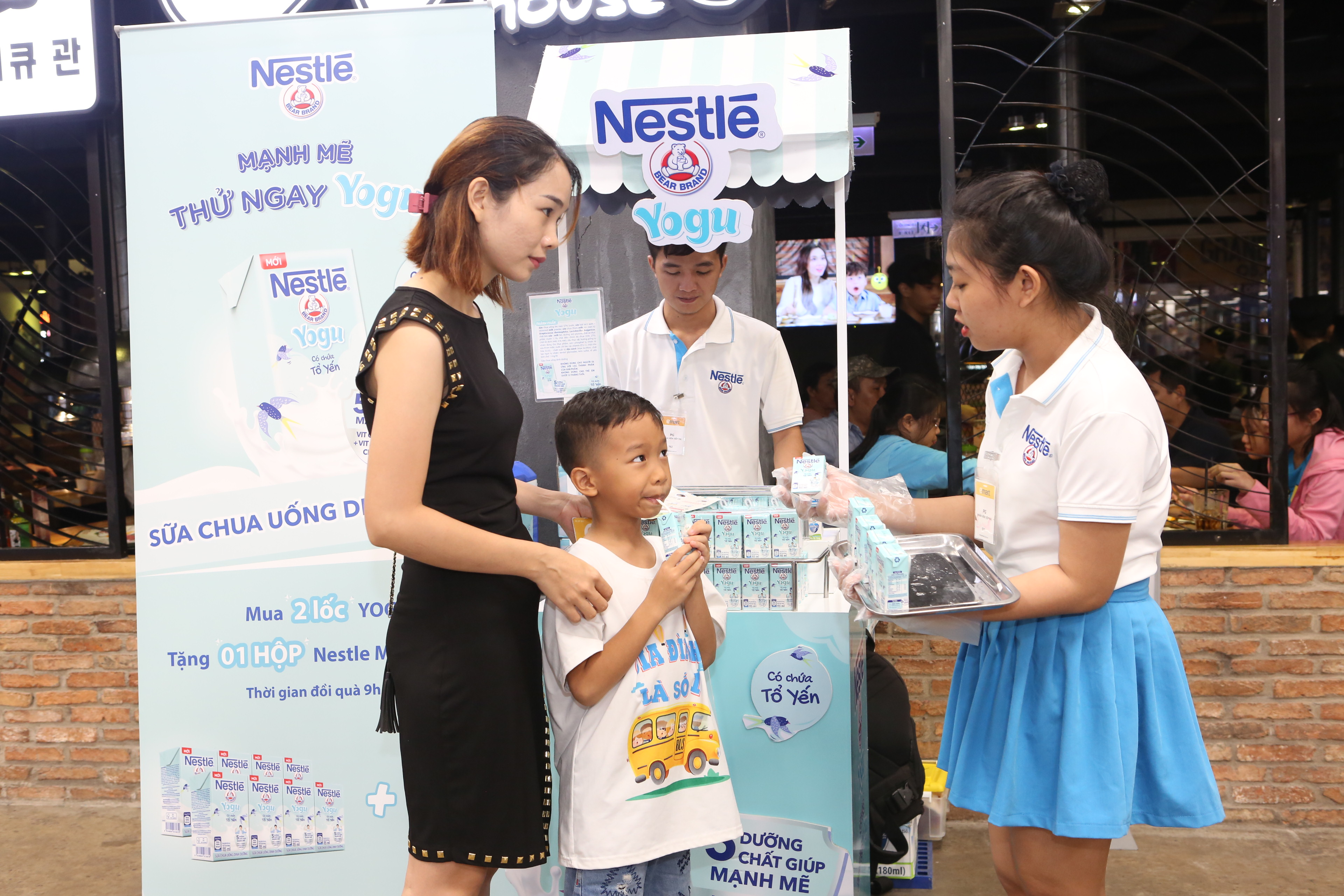 Sữa chua uống dinh dưỡng Nestlé YOGU có chứa tổ yến & Sữa NESVITA 5 Loại Đậu - Ảnh 2