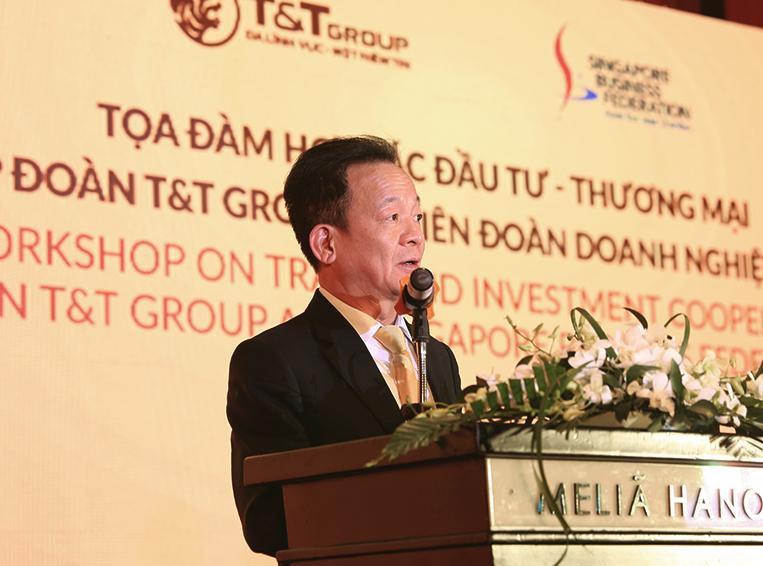 Tập đoàn T&T Group trao đổi cơ hội hợp tác - đầu tư với Liên đoàn doanh nghiệp Singapore  - Ảnh 1