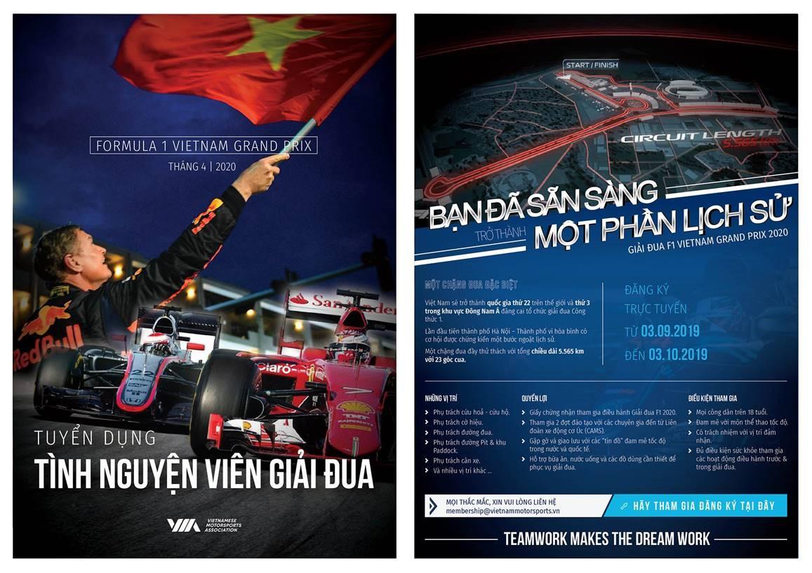 Tuyển 1.000 tình nguyện viên điều hành chặng đua công thức 1 Việt Nam  - Ảnh 1