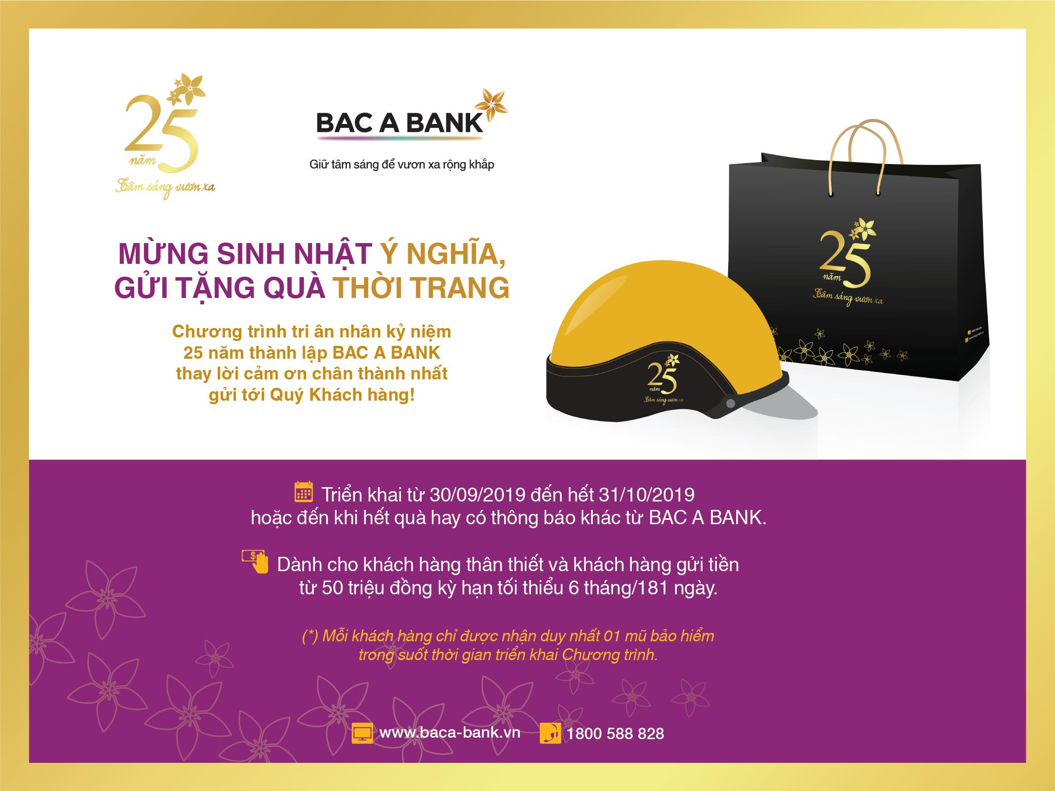 Cùng BAC A BANK mừng sinh nhật ý nghĩa, gửi tặng quà thời trang  - Ảnh 1