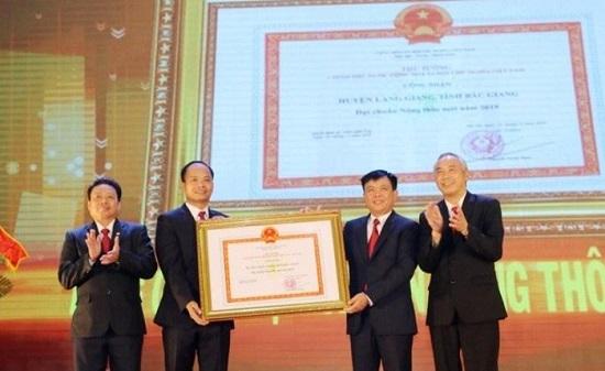 Huyện Lạng Giang (Bắc Giang): Đón bằng công nhận đạt chuẩn Nông thôn mới và Huân chương lao động hạng Ba  - Ảnh 1