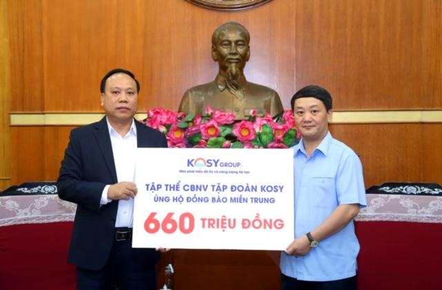 CBNV Tập đoàn Kosy ủng hộ 660 triệu đồng giúp miền Trung vượt bão lũ - Ảnh 1