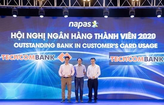 """NAPAS vinh danh Techcombank là """"Ngân hàng tiêu biểu năm 2020"""" - Ảnh 1"""