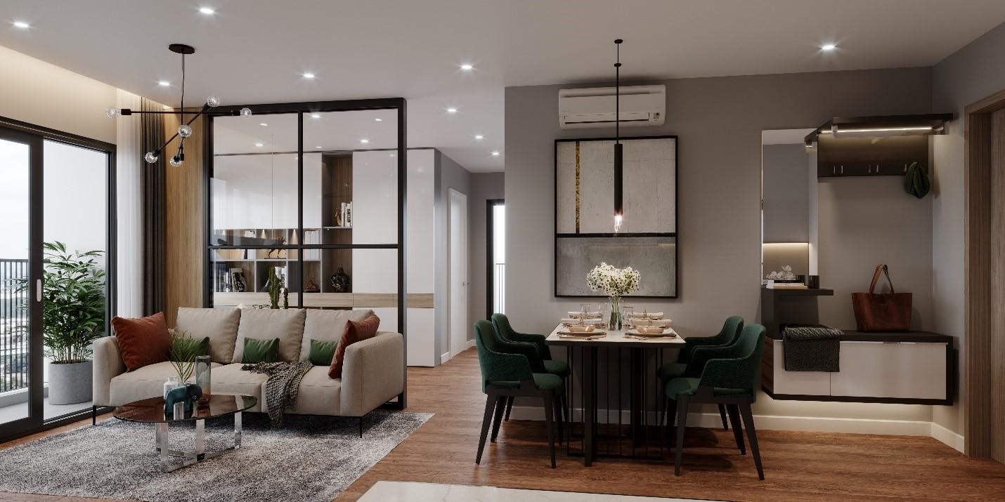 Thiết kế căn hộ 2 phòng ngủ cực thông minh cho vợ chồng trẻ - Ảnh 1