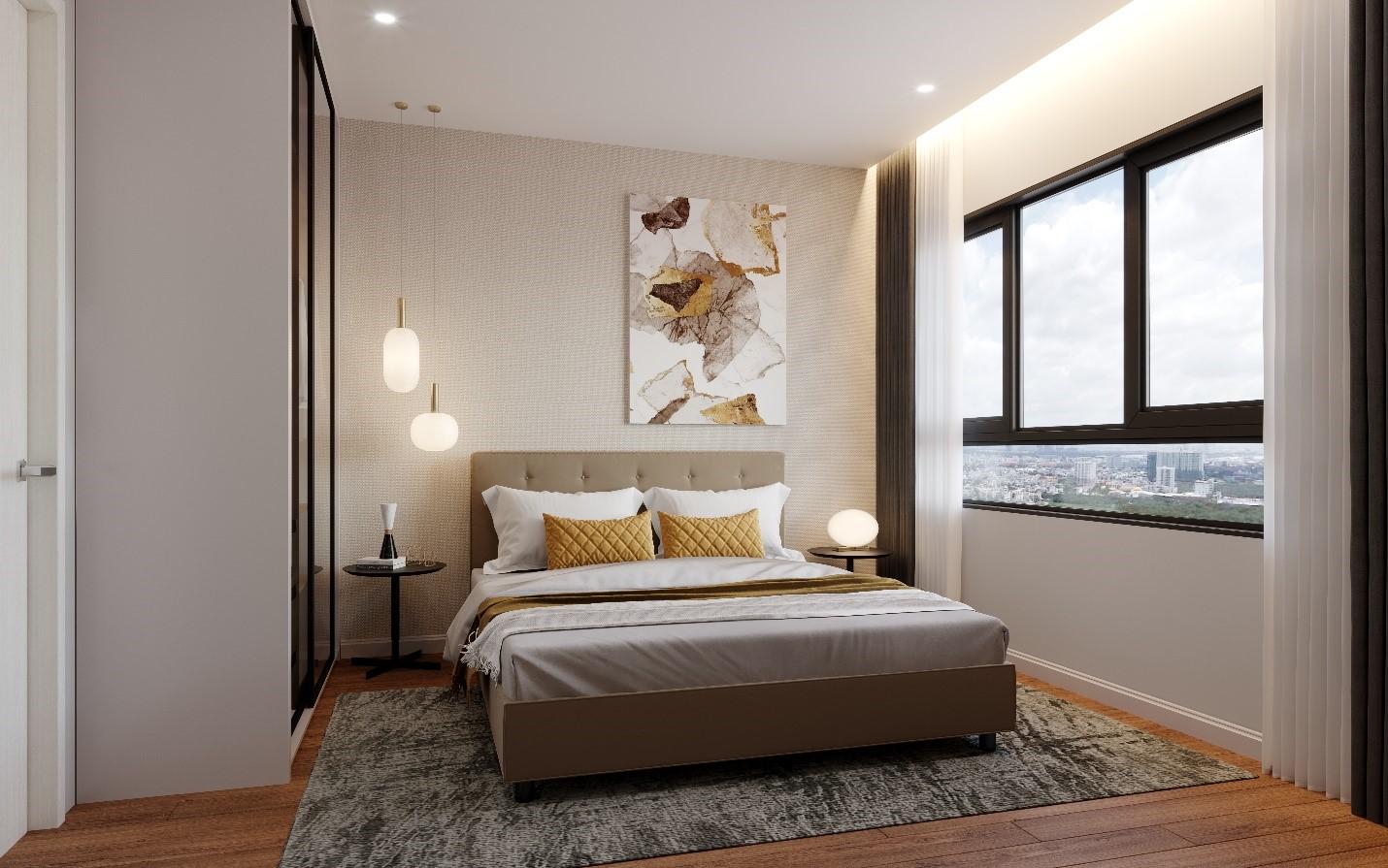 Thiết kế căn hộ 2 phòng ngủ cực thông minh cho vợ chồng trẻ - Ảnh 3
