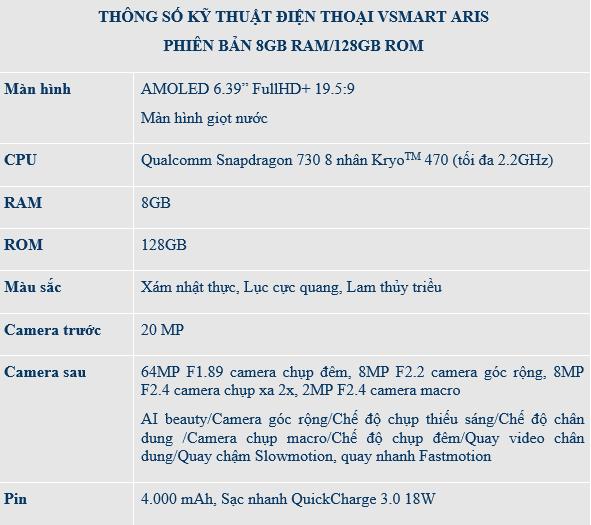 Ra mắt Vsmart Aris nâng cấp cấu hình 8GB RAM/128GB giá không đổi - Ảnh 4