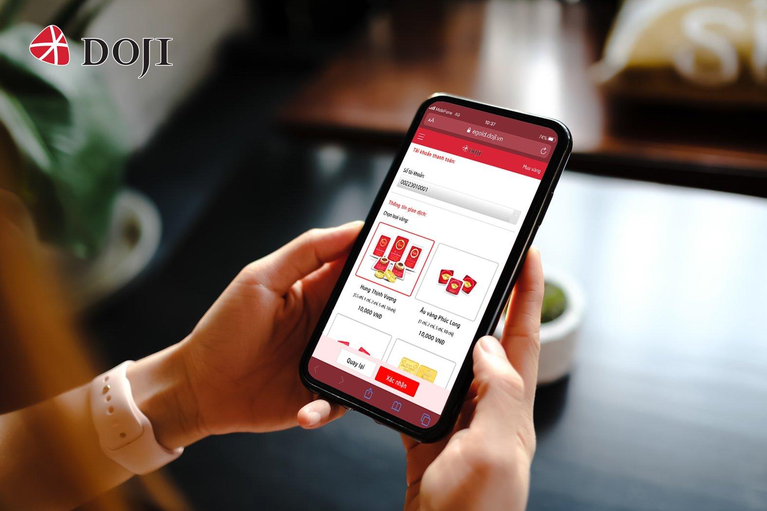 Sắp ra mắt hình thức mua bán vàng vật chất trực tuyến eGold của DOJI  - Ảnh 2