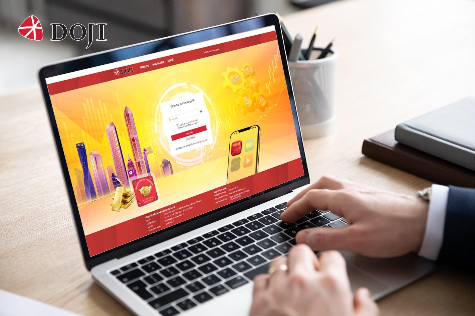 Sắp ra mắt hình thức mua bán vàng vật chất trực tuyến eGold của DOJI  - Ảnh 1