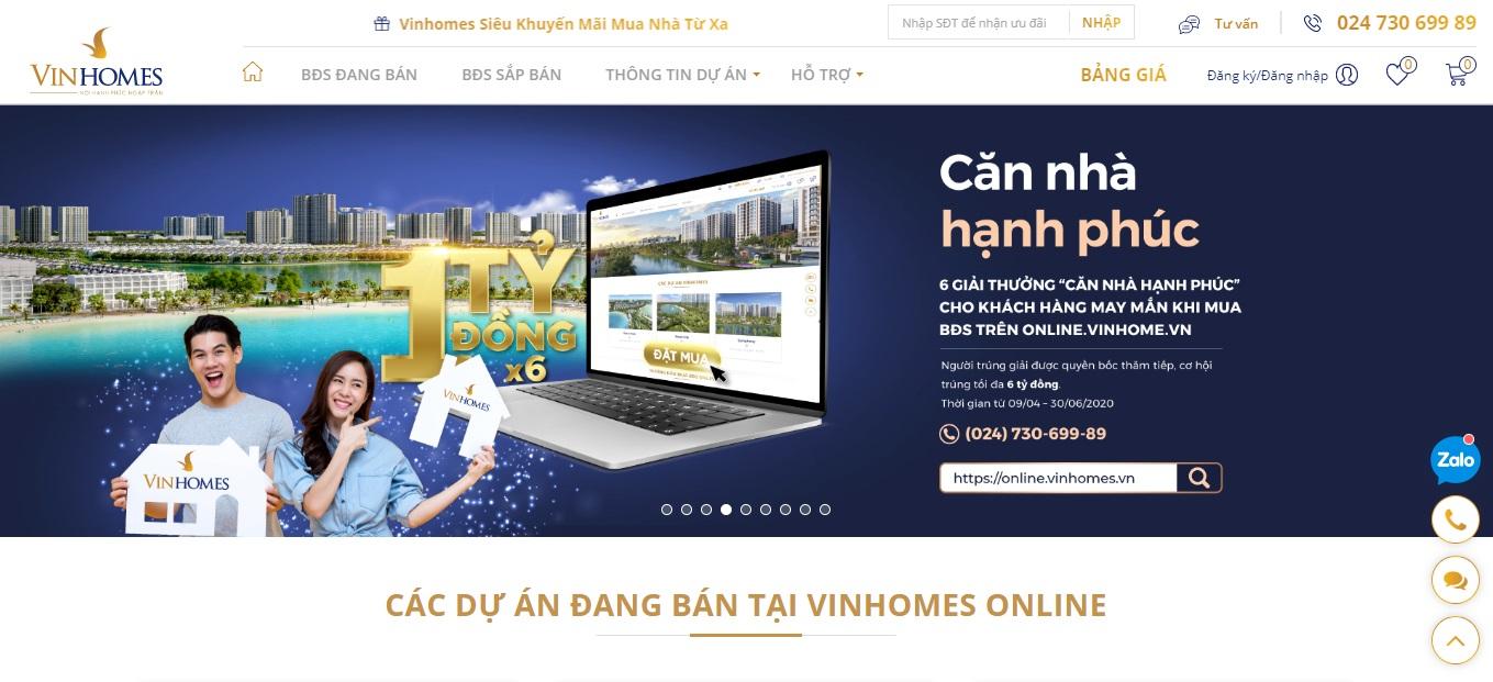 Vinhomes ra mắt sàn giao dịch bất động sản trực tuyến  - Ảnh 1