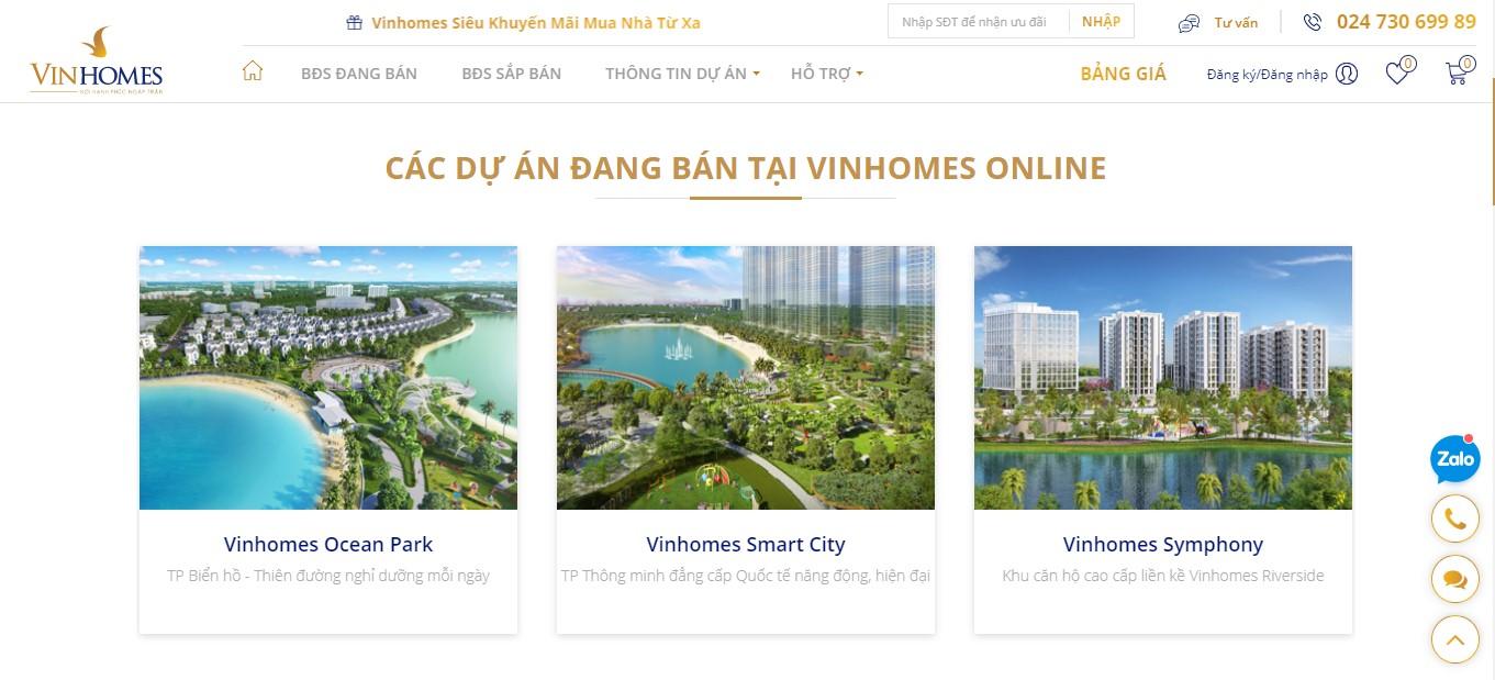 Vinhomes ra mắt sàn giao dịch bất động sản trực tuyến  - Ảnh 2