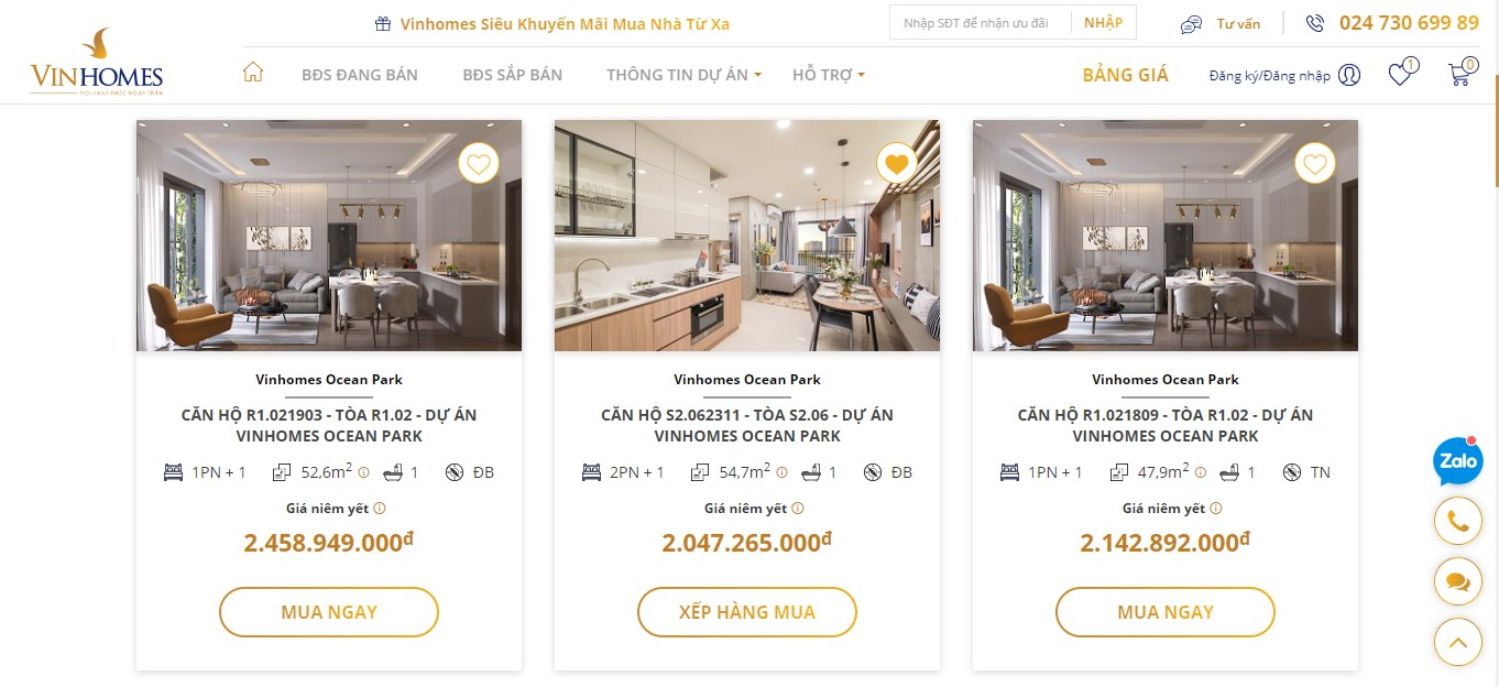 Vinhomes ra mắt sàn giao dịch bất động sản trực tuyến  - Ảnh 3