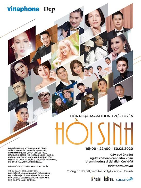 Hoà nhạc trực tuyến thiện nguyện với sự tham gia của 30 nghệ sĩ hàng đầu Việt Nam - Ảnh 1