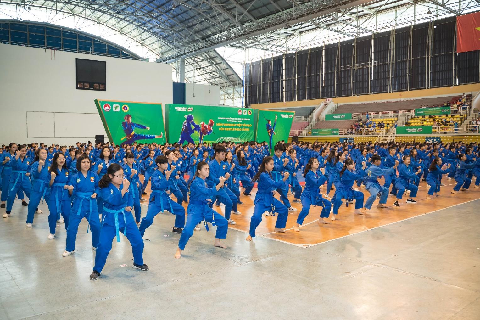Khai mạc Giải Hội Khỏe Phù Đổng Môn Vovinam Việt Võ Đạo – Cúp Nestlé MILO lần III  - Ảnh 2