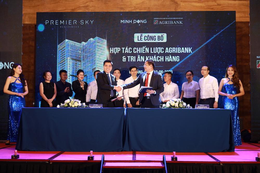 Agribank và công ty Minh Đông hợp tác chiến lược dự án Premier Sky Residences  - Ảnh 1