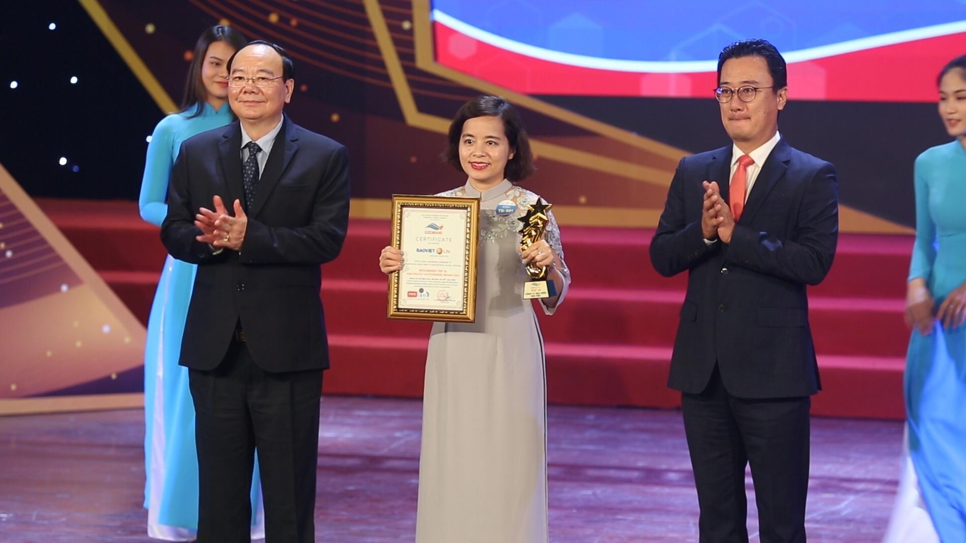 """Bảo Việt Nhân thọ nhận danh hiệu """"Thương hiệu Tiêu biểu Châu Á Thái Bình Dương 2020""""  - Ảnh 1"""