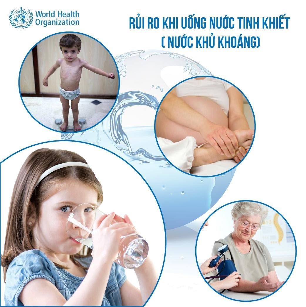 Cảnh báo của WHO trong việc sử dụng nước tinh khiết  - Ảnh 2