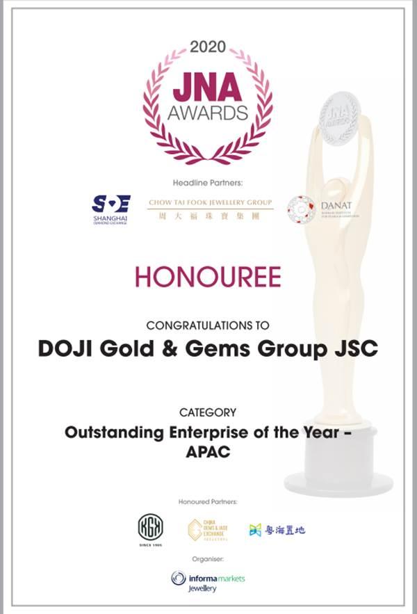 Tập đoàn DOJI được vinh danh là doanh nghiệp xuất sắc Châu Á Thái Bình Dương năm 2020  - Ảnh 1