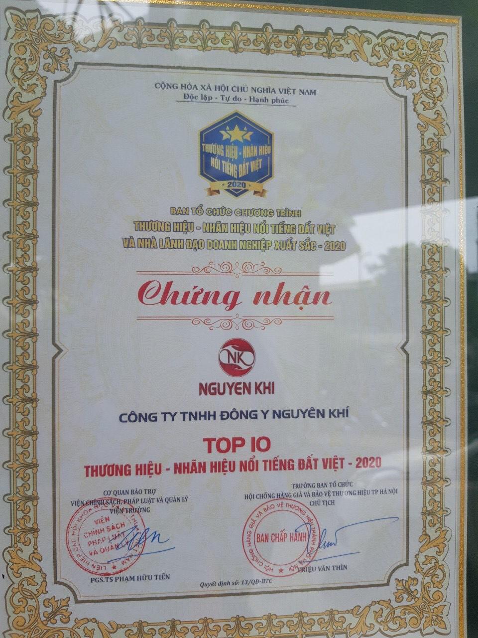 Vinh danh thương hiệu Đông y Nguyên Khí tại lễ trao giải Thương hiệu – Nhãn hiệu nổi tiếng Đất Việt và Nhà lãnh đạo doanh nghiệp xuất sắc 2020 - Ảnh 2
