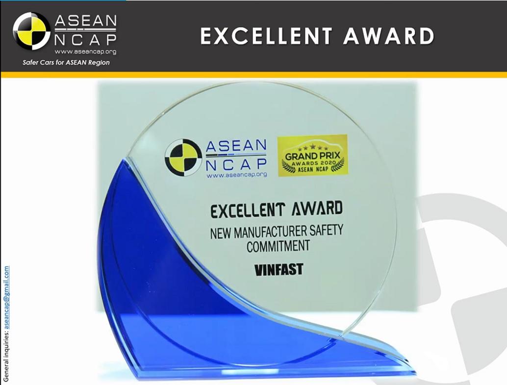 """VinFast đoạt giải """"hãng xe có cam kết cao về an toàn"""" ASEAN NCAP - Ảnh 2"""