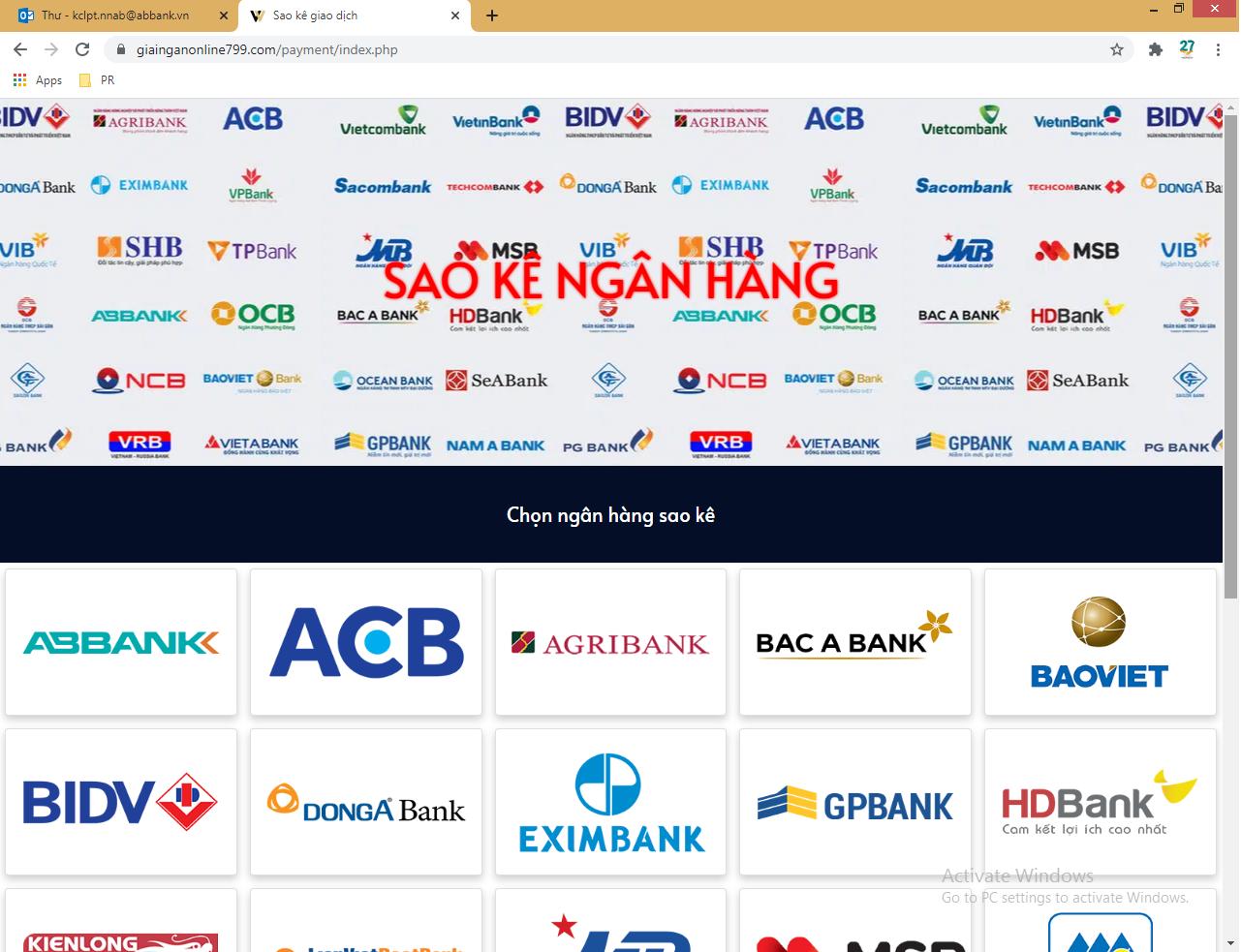 ABBank khuyến cáo khách hàng về hành vi giả mạo Website ngân hàng để lừa đảo chiếm đoạt tài sản - Ảnh 2