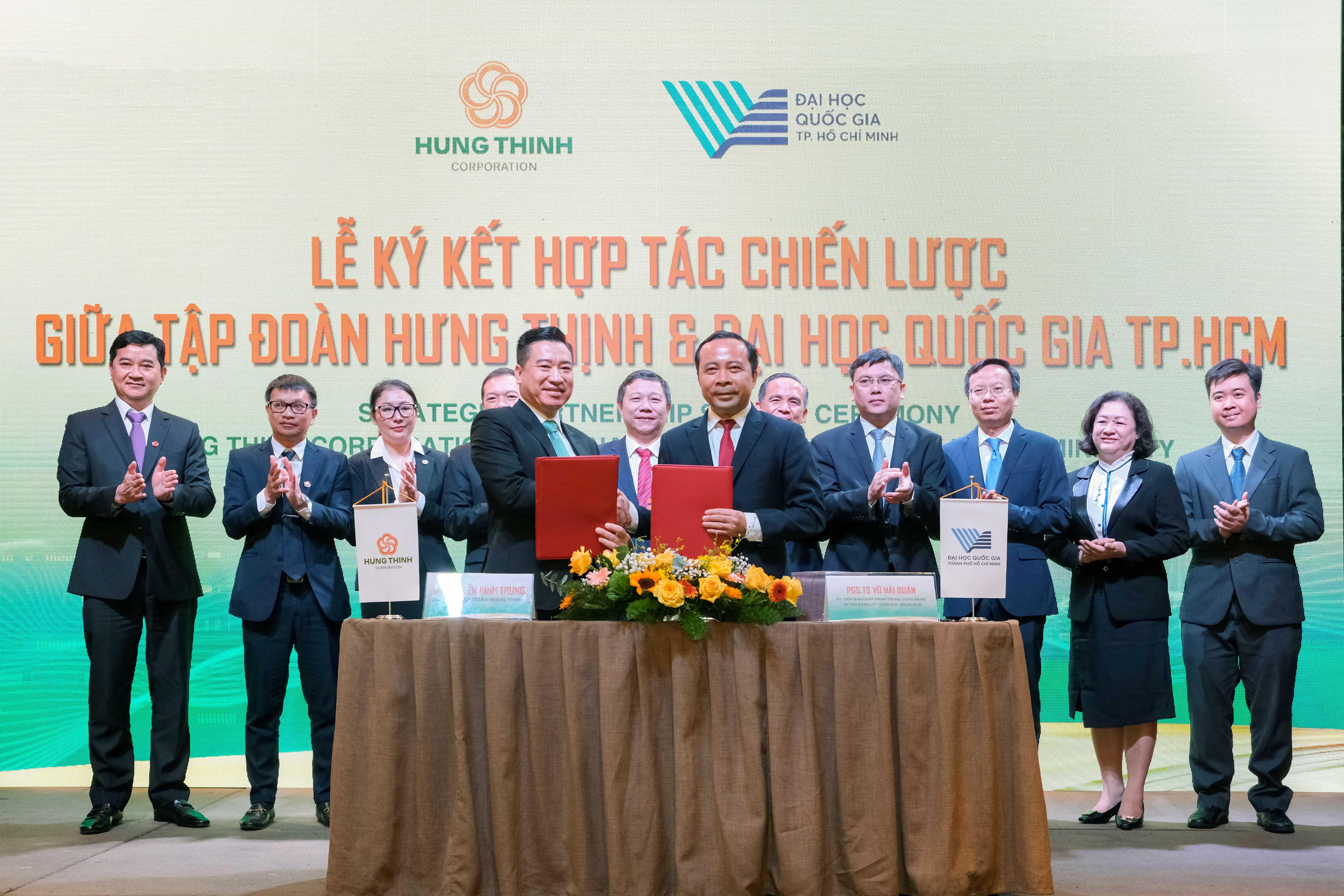 Tập đoàn Hưng Thịnh và Đại Học Quốc Gia TP.HCM ký kết hợp tác chiến lược - Ảnh 1