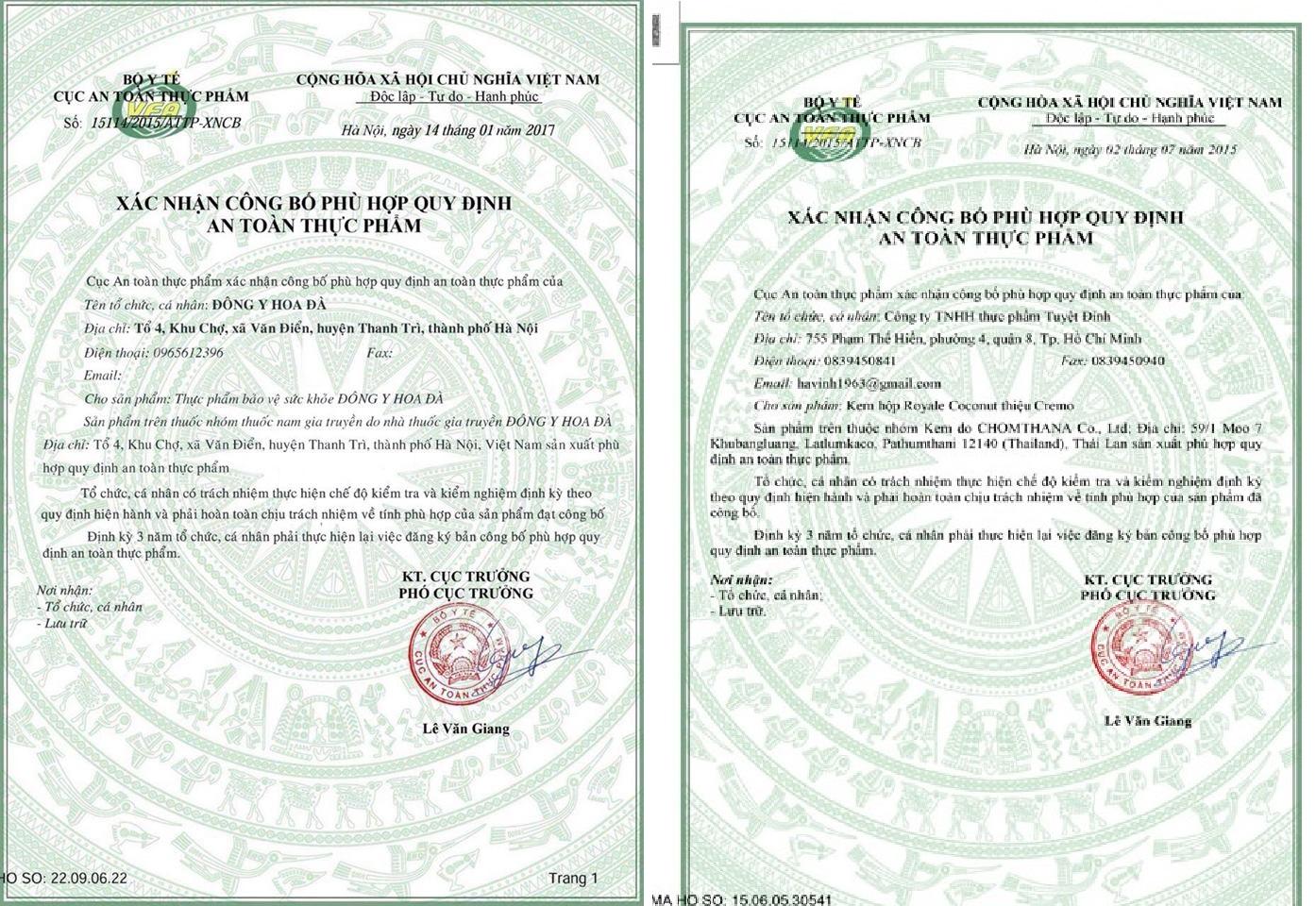 Bài 1: Đông Y Hoa Đà làm giả giấy xác nhận ATTP để lừa người tiêu dùng? - Ảnh 1