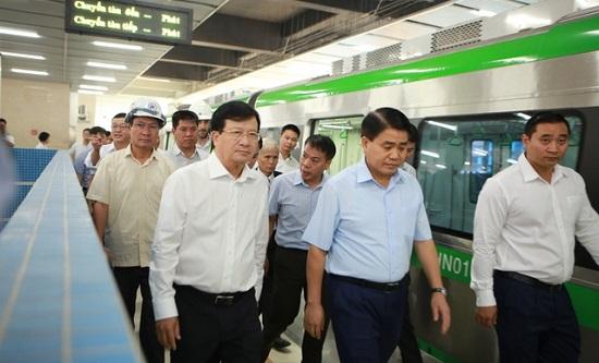 """Dự án đường sắt Cát Linh - Hà Đông chậm tiến độ: Phó Thủ tướng trao đổi """"nóng"""" với Tổng thầu Trung Quốc - Ảnh 1"""
