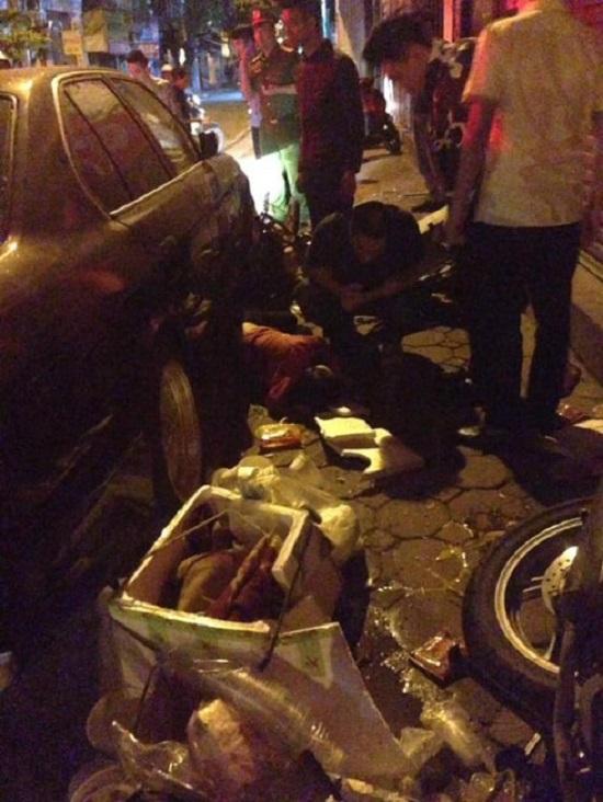 Hiện trường vụ xe BMW gây tai nạn liên hoàn trên phố Hà Nội lúc rạng sáng - Ảnh 3
