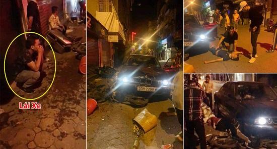 Hiện trường vụ xe BMW gây tai nạn liên hoàn trên phố Hà Nội lúc rạng sáng - Ảnh 4
