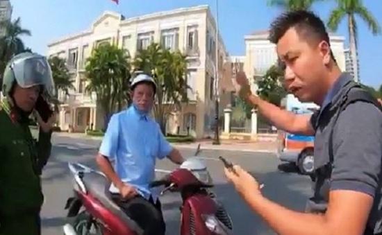 Đà Nẵng: Người đàn ông vi phạm giao thông còn vu vạ công an đánh người - Ảnh 1