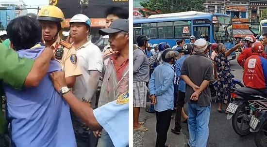 TP.HCM: Cãi vã do va chạm giao thông, tài xế xe bus cầm dao tấn công thanh niên chạy Grab - Ảnh 1