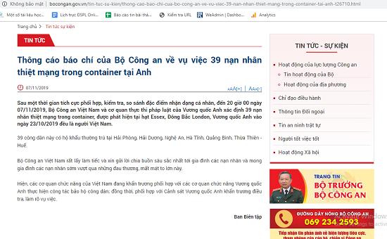 Vụ 39 người tử vong trong container ở Anh: Các nạn nhân đều là người Việt Nam - Ảnh 1