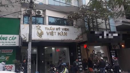 Hà Nội: Nghi vấn một người tử vong khi làm đẹp tại thẩm mỹ viện Việt Hàn - Ảnh 1