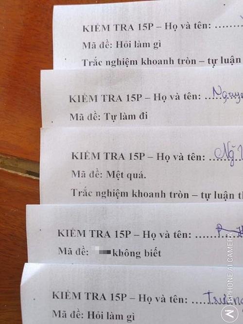 """Những mã đề thi siêu """"bá đạo"""" của thầy cô khiến học sinh chỉ biết """"câm nín"""" - Ảnh 1"""