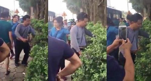 Phản ứng bất ngờ của người đàn ông bị tố sàm sỡ phụ nữ trên xe buýt ở Hà Nội - Ảnh 1