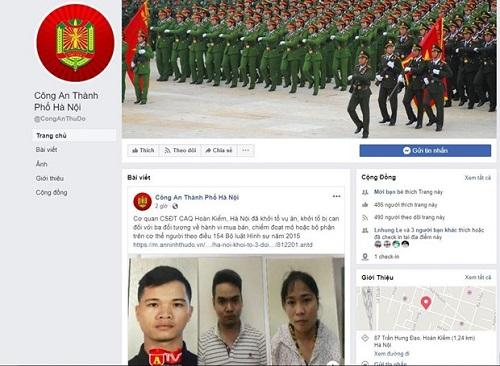 Từ 17/6, Công an Hà Nội sẽ tiếp nhận thông tin an ninh trật tự qua Facebook - Ảnh 1