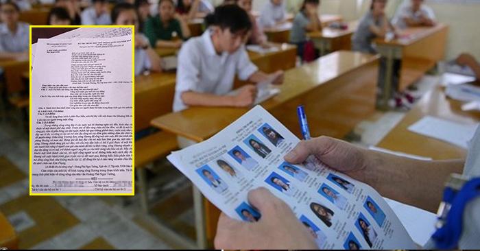 """Hé lộ cách thức thí sinh ở Phú Thọ làm """"lọt"""" đề thi môn Ngữ văn THPT quốc gia 2019 ra ngoài - Ảnh 1"""