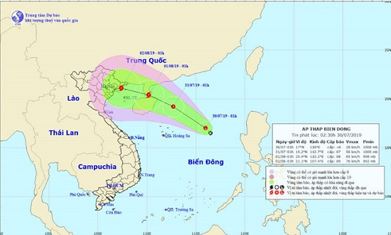 Biển Đông xuất hiện áp thấp nhiệt đới, Bắc Bộ và Bắc Trung Bộ có mưa lớn trên diện rộng - Ảnh 1