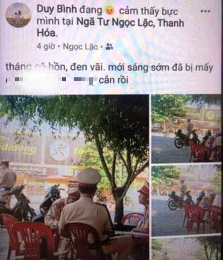 Vi phạm giao thông xin không được, nam thanh niên chụp ảnh tung lên Facebook xúc phạm CSGT - Ảnh 1